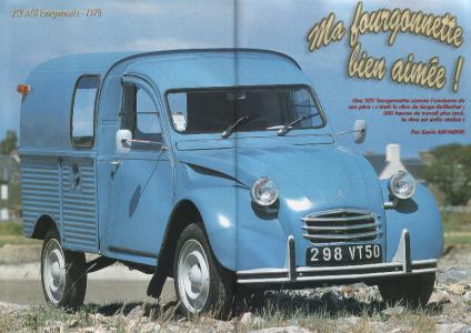 2cv fourgonnette bleu